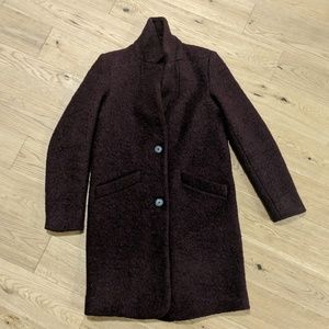 Marc New York Paige Bouclé Coat Burgundy S